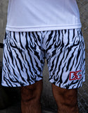 DSG White Tiger Swim Trunks.
