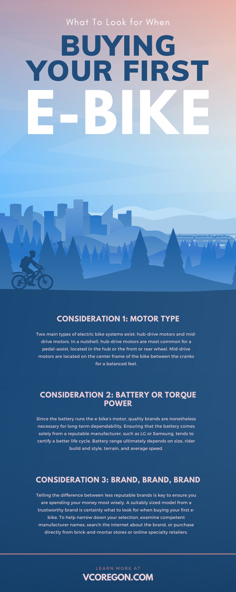 What To Look for When Buying Your First E-Bike