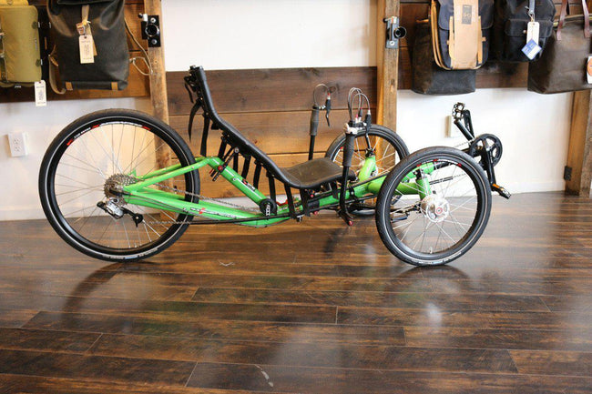 DEMO MODEL CLEARANCE SALE! AZUB T-Tris 26 inch Recumbent Trike - Green Frame-Voltaire Cycles