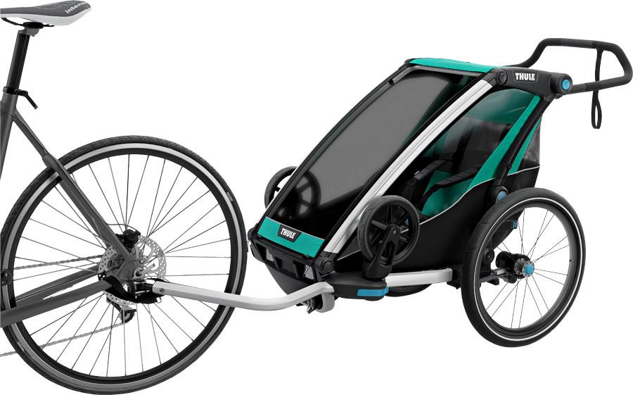 Thule Chariot Lite 1 Trailer and Stroller: Bluegrass, 1 Child-Voltaire Cycles
