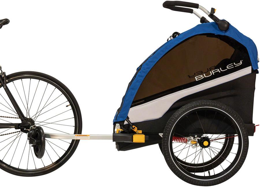 Burley D'Lite Single Child Trailer: Old School Blue-Voltaire Cycles