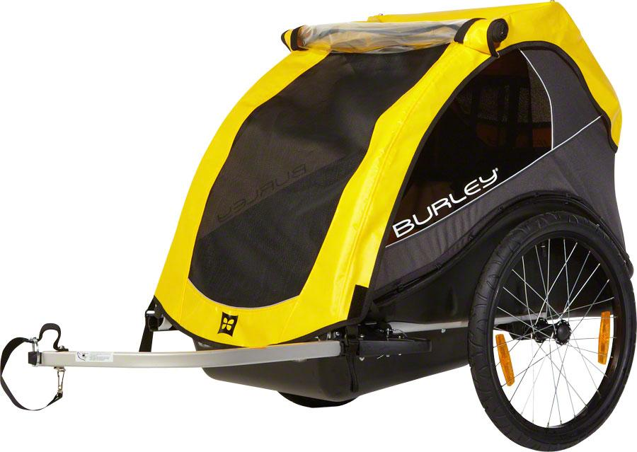 Burley Rental Cub Child Trailer: Yellow-Voltaire Cycles