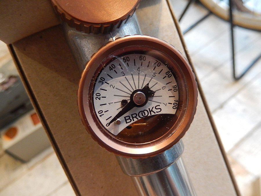 Brooks P1 Bicycle Hand Pump w/ Gauge - Damaged Retail Packaging-Voltaire Cycles