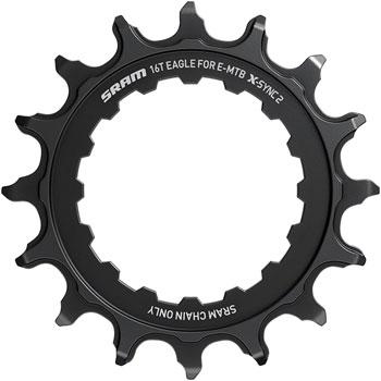 SRAM 16t Bosch Direct Mount 11/12-Speed X-Sync2 Eagle Chainring, Black-Voltaire Cycles