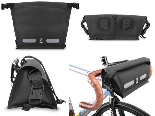 Chrome Knurled Handlebar Bag-Voltaire Cycles