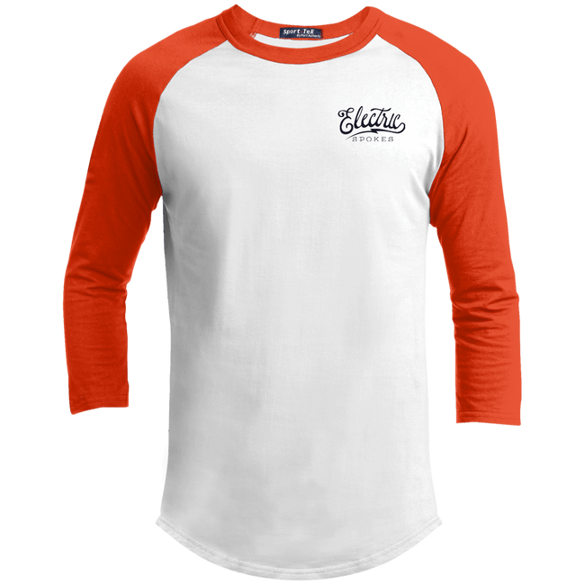 The Voltaire Cycles Baseball T-Shirt-Voltaire Cycles