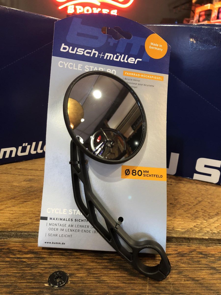 Bicycle Mirror Cycle Star with Long Arm Extension-Voltaire Cycles