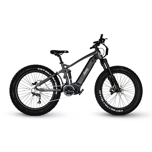 Jeep Electric Fat Tire Bike, 750 Watt Mid Drive, 26 x 4.8