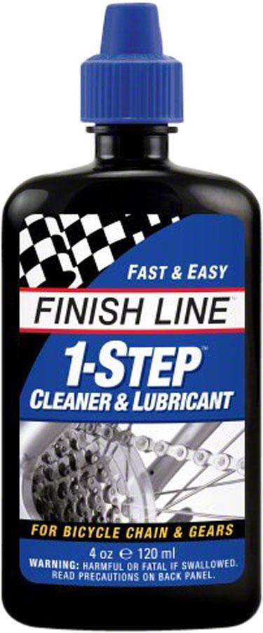 Finish Line 1-Step Cleaner and Bike Chain Lube - 4 fl oz, Drip-Voltaire Cycles