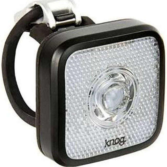Blinder MOB - Front Bicycle Light USB Rechargeable by KNOG - Black/White - Eyeballer-Voltaire Cycles