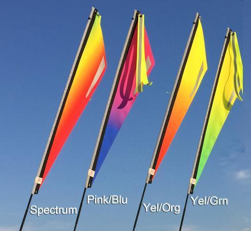Purple Sky Fade Flag for Recumbent or Electric Bicycle-Voltaire Cycles