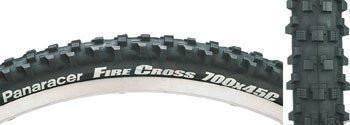 Panaracer Fire Cross 700x45c Knobby Folding Black Tire-Voltaire Cycles