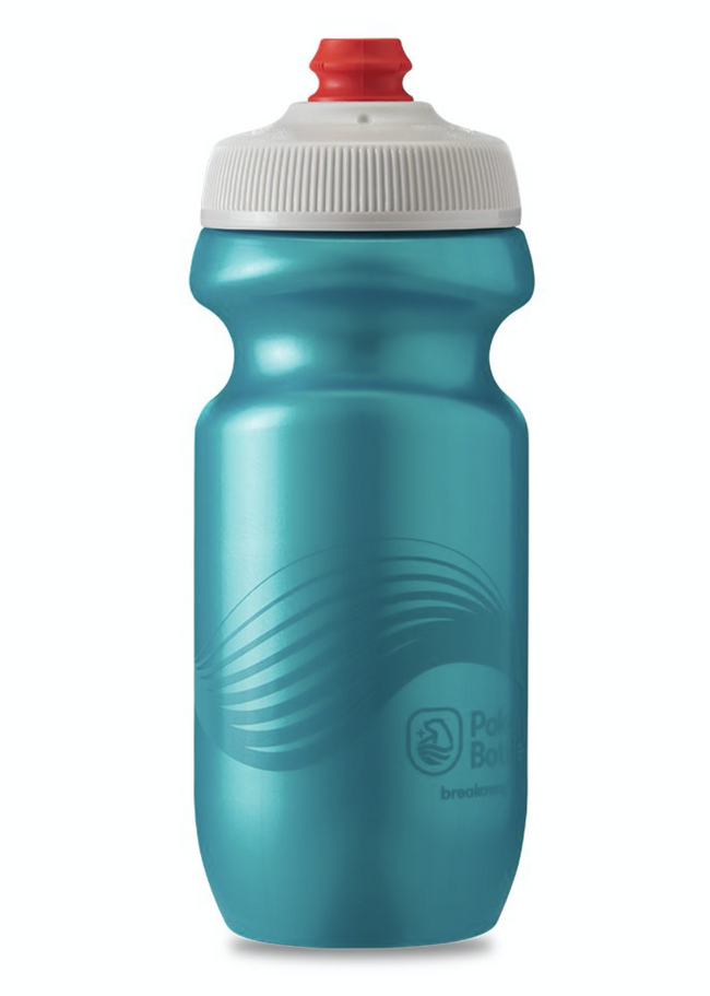 20 oz Breakaway Polar Bottle 'Wave Teal'-Voltaire Cycles of Central Oregon