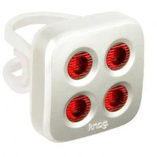 Blinder MOB - Rear Bicycle Light USB Rechargeable by KNOG - Silver/Red - 4 eyes-Voltaire Cycles