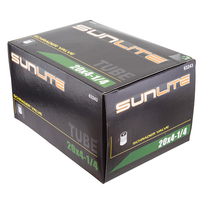 Sunlite Fat Bicycle Tube 20x4.25 Schrader Valve-Voltaire Cycles