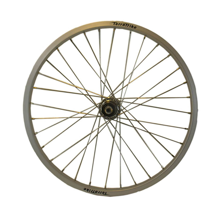 TerraTrike 20″ Front / Rear Wheel – Single Wall – Silver-Voltaire Cycles