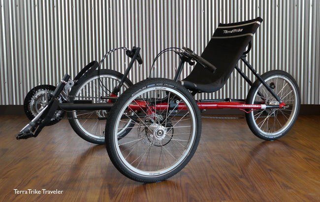 TerraTrike Traveler Folding Recumbent Trike-Voltaire Cycles