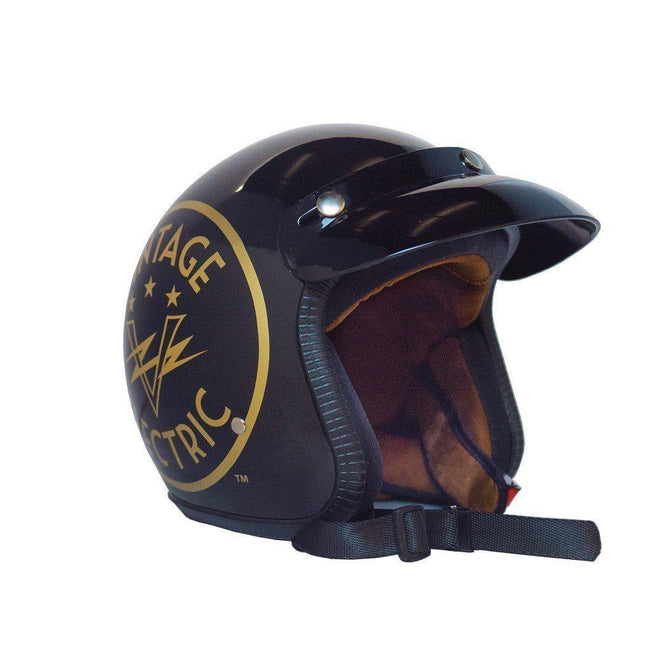 Vintage Electric Cafe Racer Helmet-Voltaire Cycles