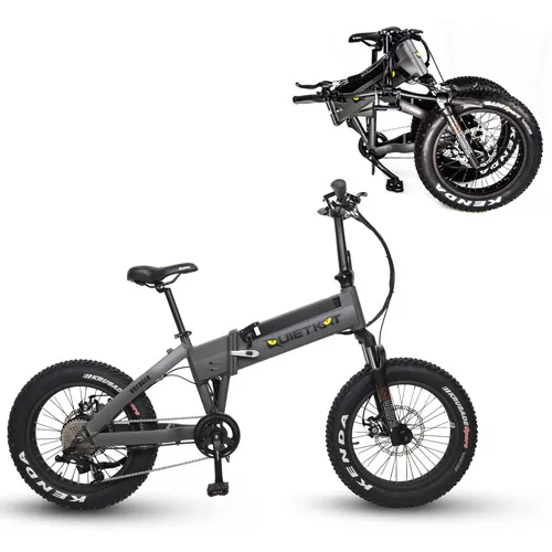 QuietKat Voyager Folding 20 x 4 Fat Tire Electric Bike-Voltaire Cycles of Central Oregon