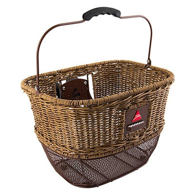 Axiom City Wicker DLX Bicycle Basket QR Tan-Voltaire Cycles