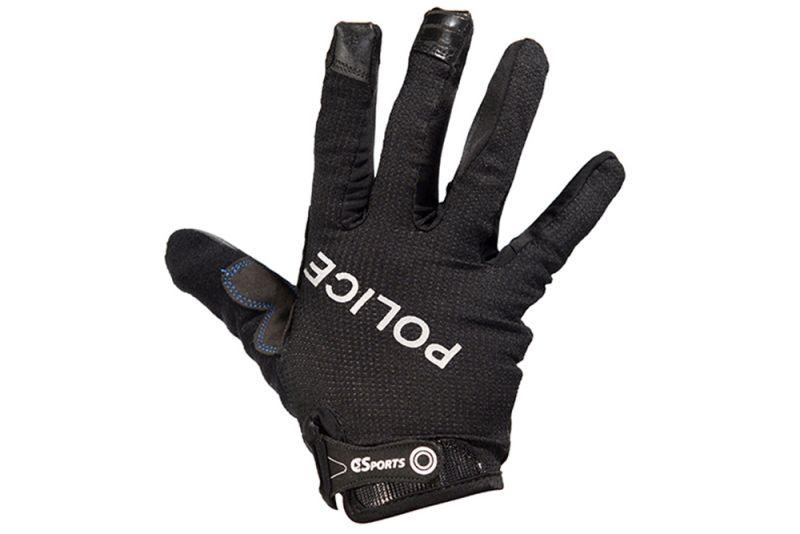 Full Finger Gloves with Police Logos-Voltaire Cycles