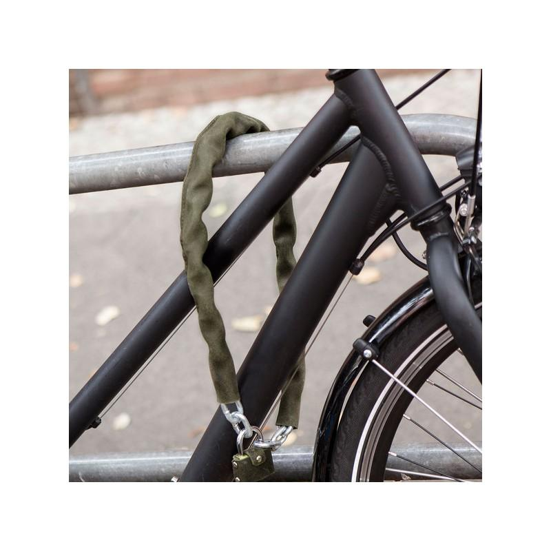 Handmade Leather Bicycle Chain Lock-Voltaire Cycles