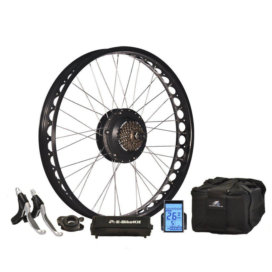 E-Bike Conversion Kit - Fatbike - Lithium - Rear Wheel - 26MPH-Voltaire Cycles