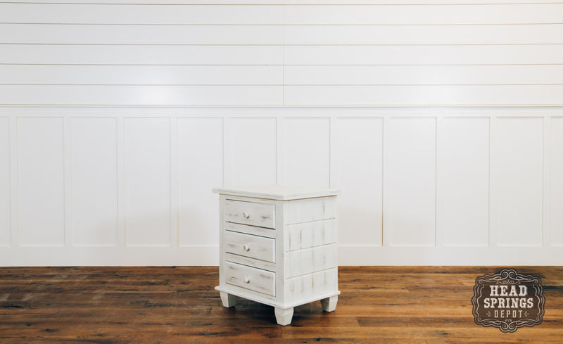 Joanna Collection Night Stand in Nero White