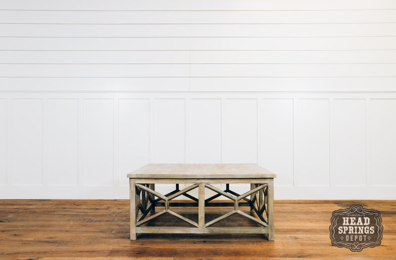 Fox & Roe Calicut Coffee Table Mango Sandblasted Dark Salvage