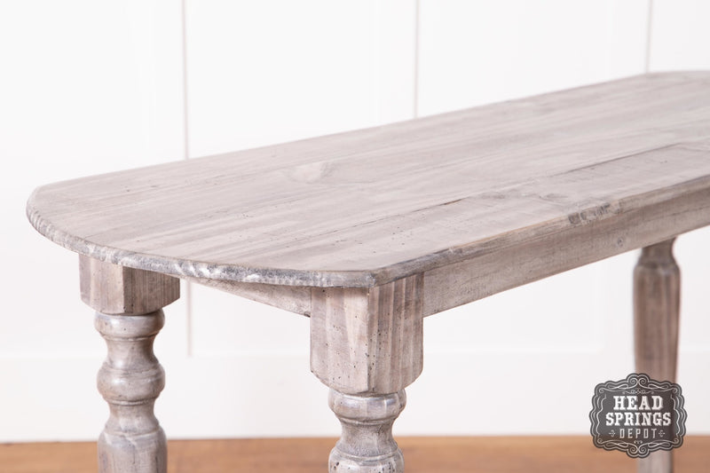 Farmhouse Tiffany Sofa Table Granite
