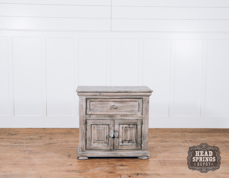 Farmhouse Allie Nightstand in Granite Finish