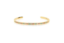 Load image into Gallery viewer, Bangle Valiano - 18K Gold Plated With Multicoloured Zirconia