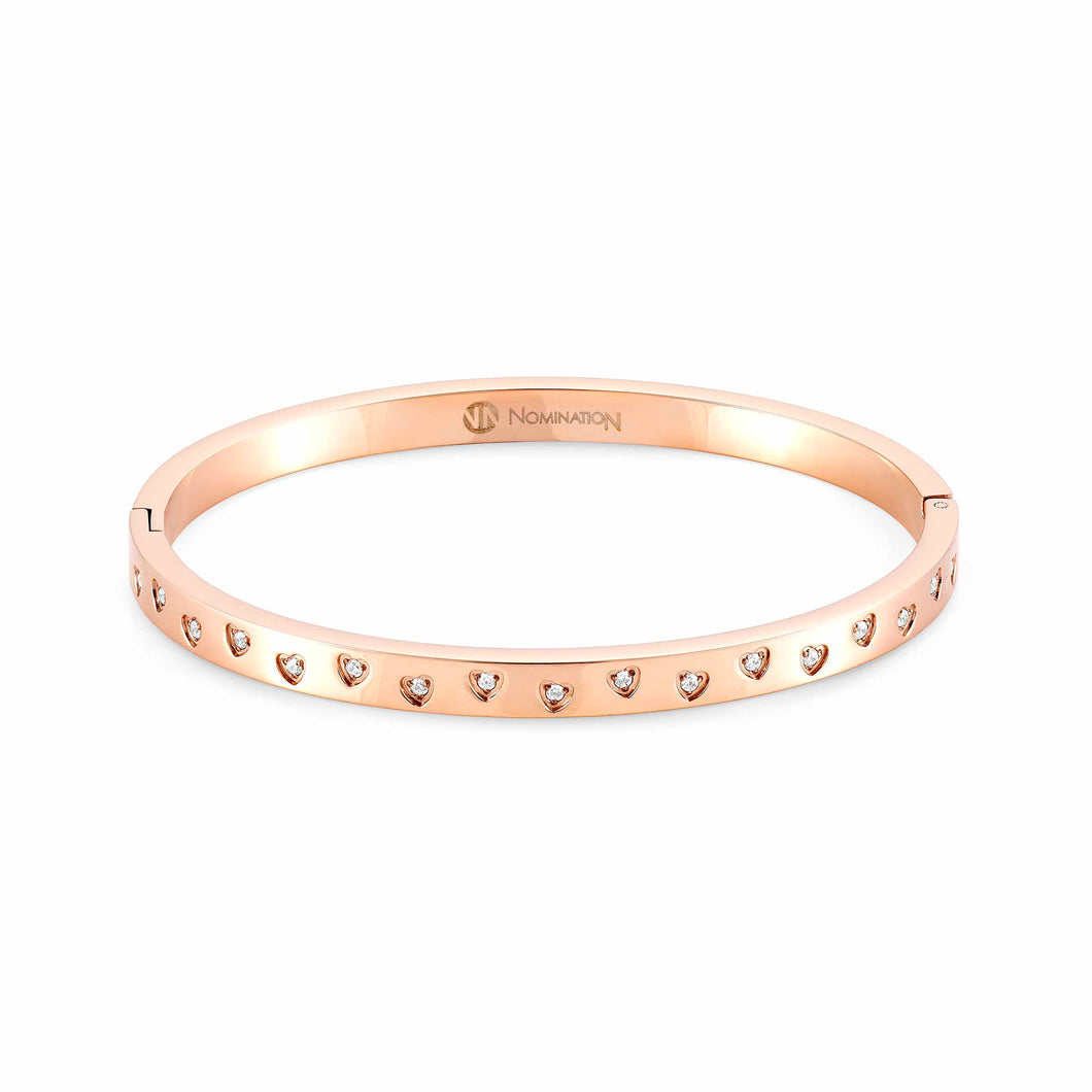 Infinito Bangle Rose Gold With Cubic Zirconia