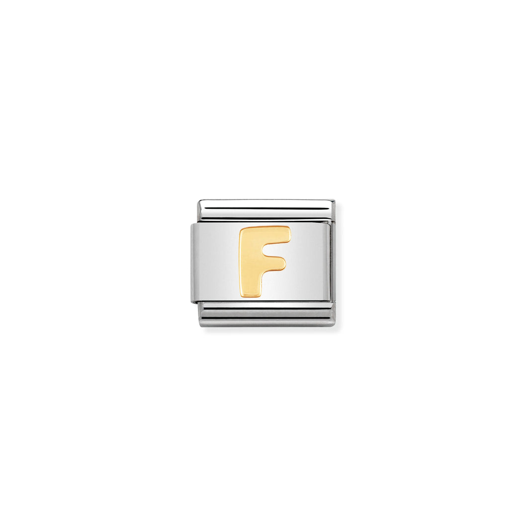 Composable Classic Link Letter F In 18K Gold