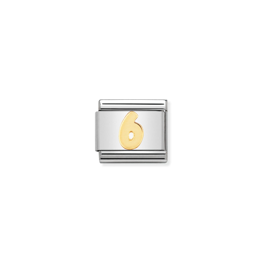 Composable Classic Link Number 6 In 18K Gold