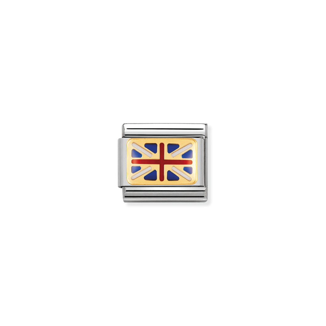 Composable Classic Link With Enamel Great Britain Flag