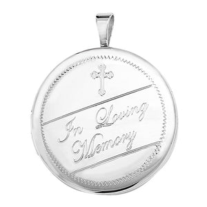 Silver Cremation Round Locket