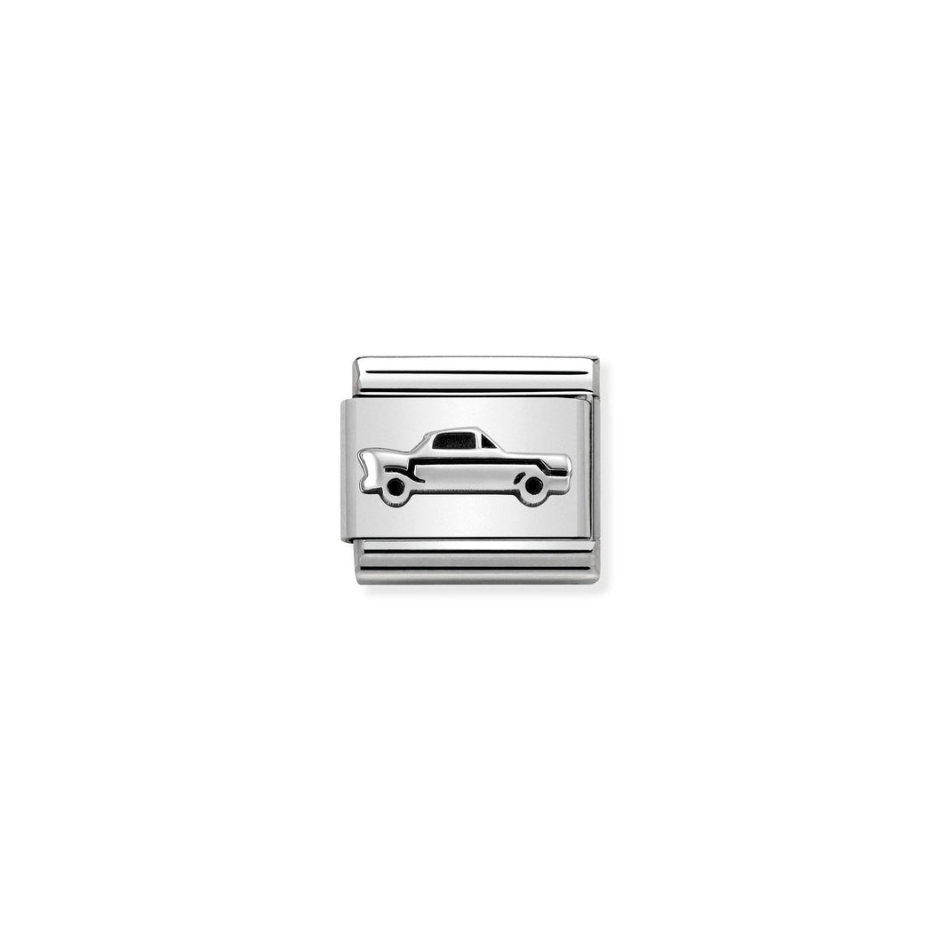 Composable Classic Link Vintage Car In Silver