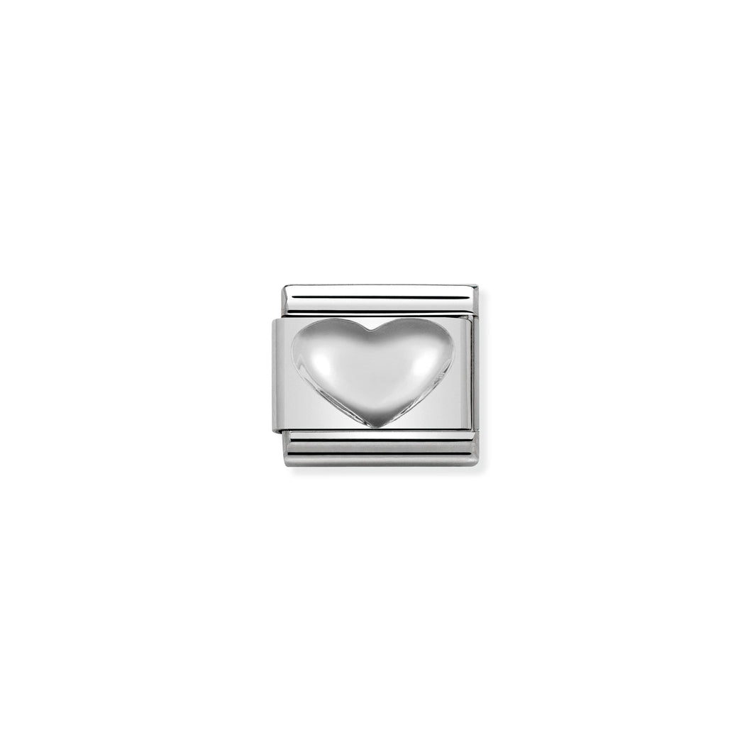 Composable Classic Link Heart In Silver