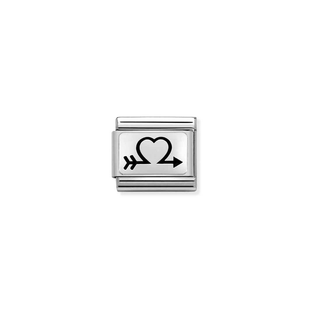Composable Classic Link Silver Arrow Heart