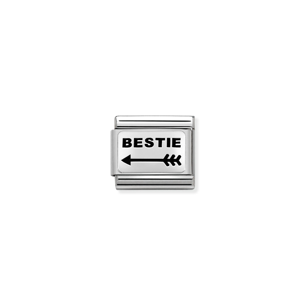 Composable Classic Link Arrow Right Bestie In Silver