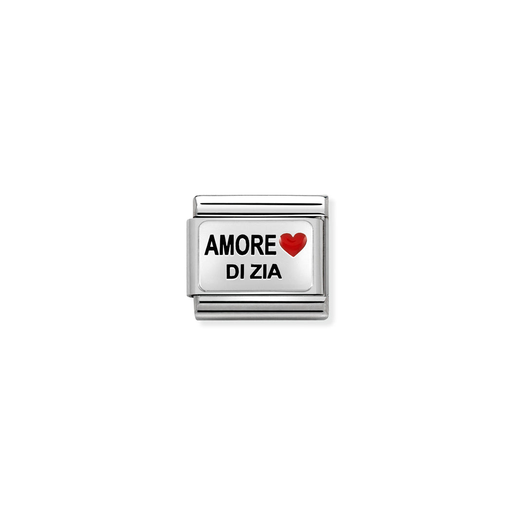 Composable Classic Link Amore Di Zia In Silver And Enamel