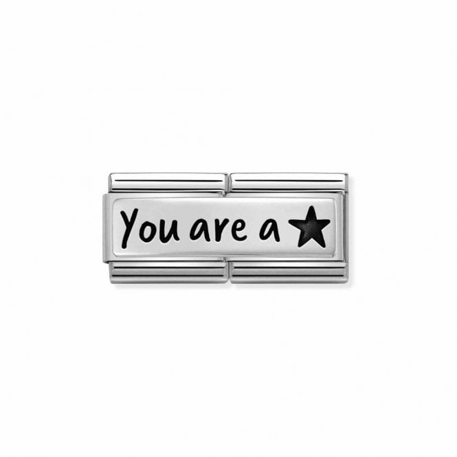 Composable Classic Link Double Plate You're A Star In Silver
