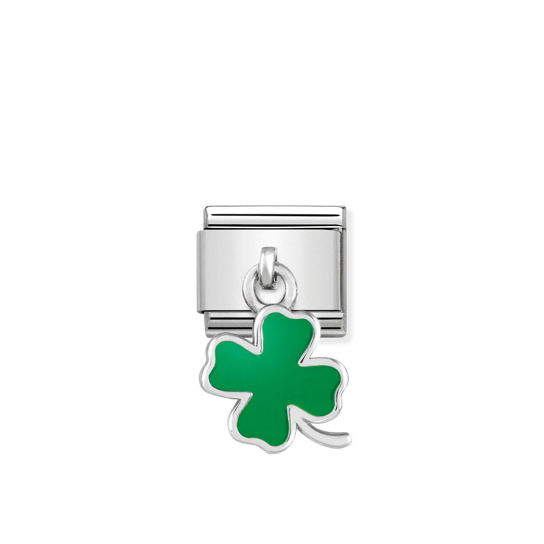 Composable Classic Link Green Four Leaf Clover