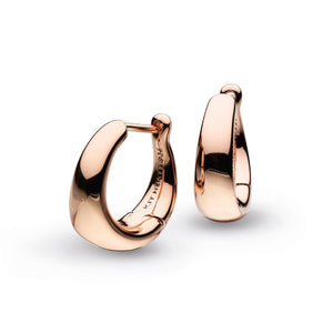 Bevel Cirque Small Hinged Rose Gold Hoop Earrings