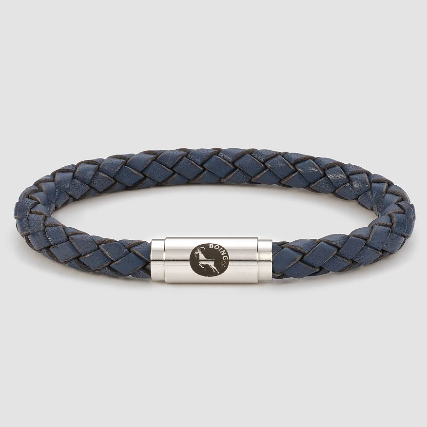 Blue Middy Leather Bracelet