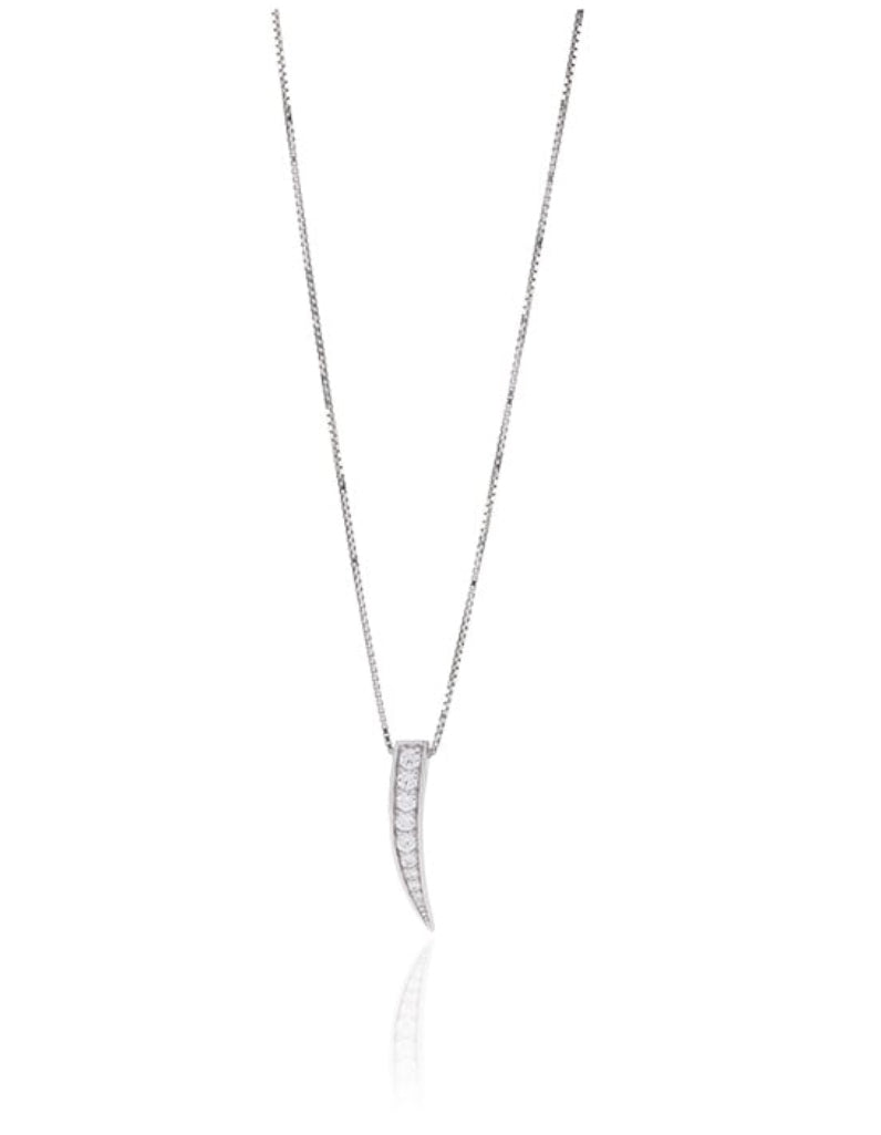 Pendant Pila Piccolo With White Zirconia