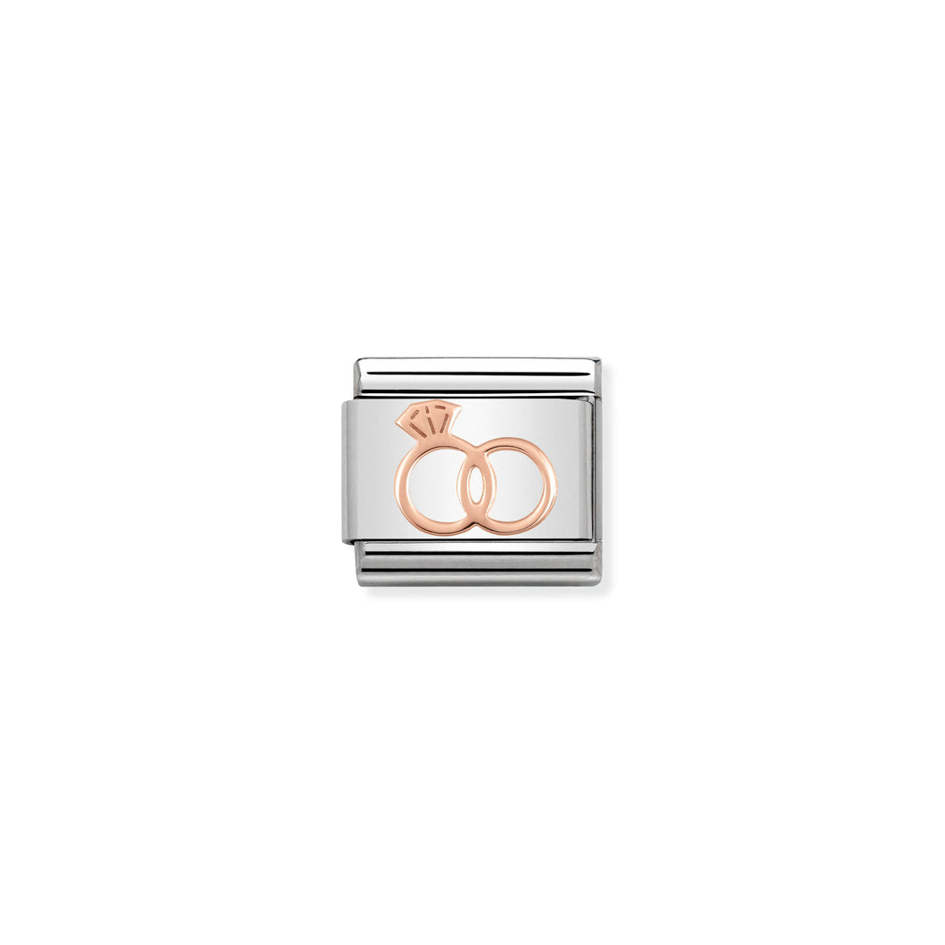 Composable Classic Link Rose Gold Marriage Rings
