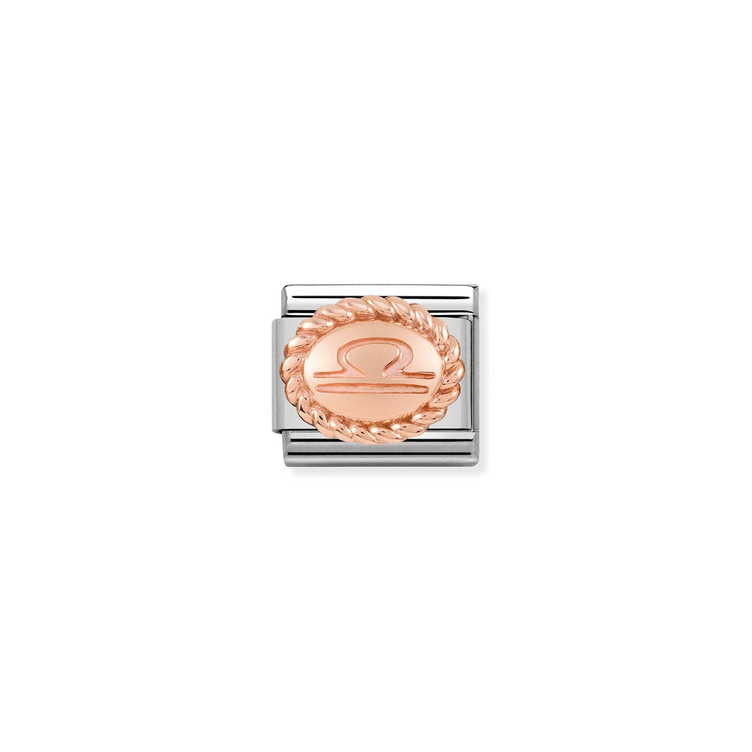 Composable Classic Link Rose Gold Libra Symbol