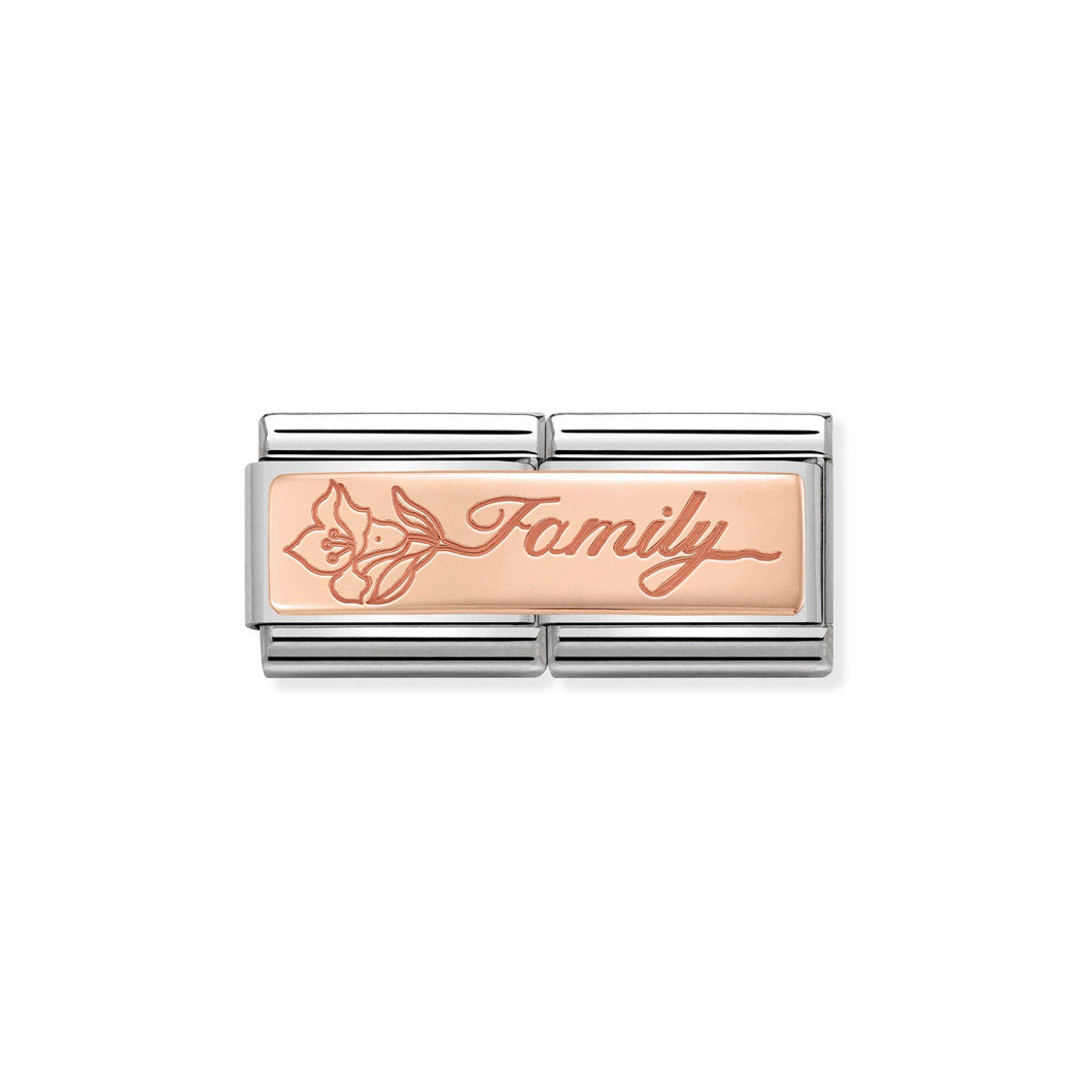 Composable Classic Double Link Rose Gold Family With Flower